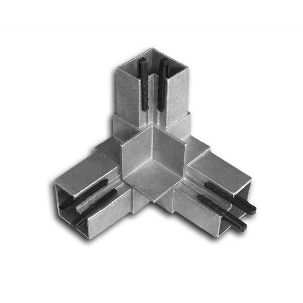 трехлучевой соединитель с фиксаторами из пластика