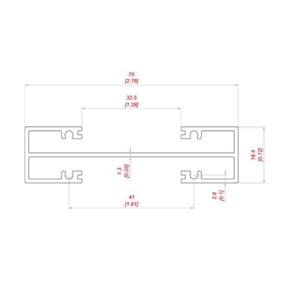 PD 1003-50 профиль для воздушного клапана