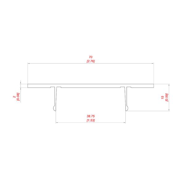 PD 1008-50 профиль для корпуса задвижки