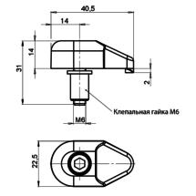 Размеры фиксатора З40