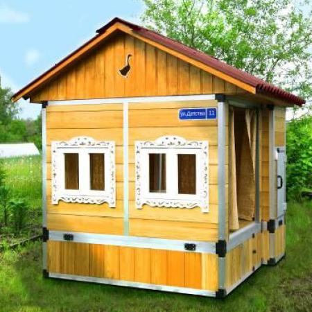 самодельный дом для детских игр