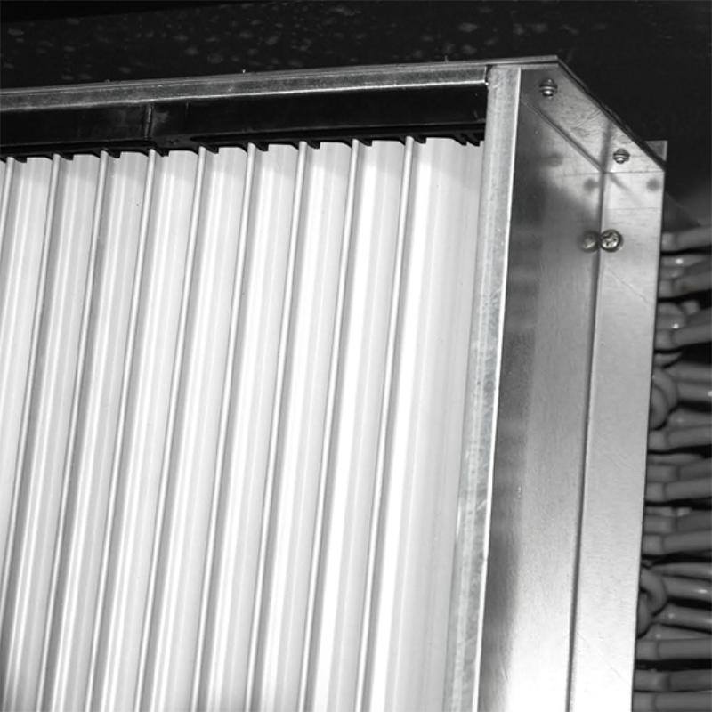 смонтированный внутри корпуса сепаратор капель
