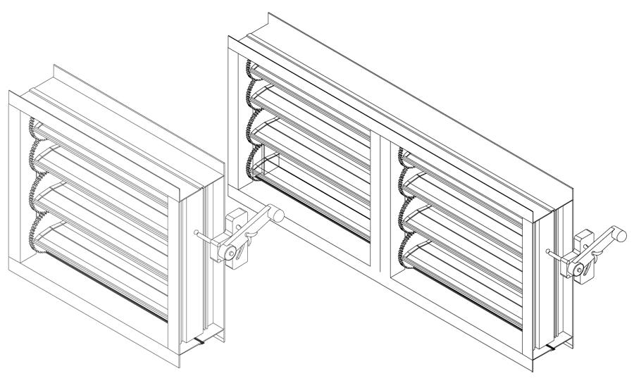 Клапаны из профиля pro-lam c шестернями N 830