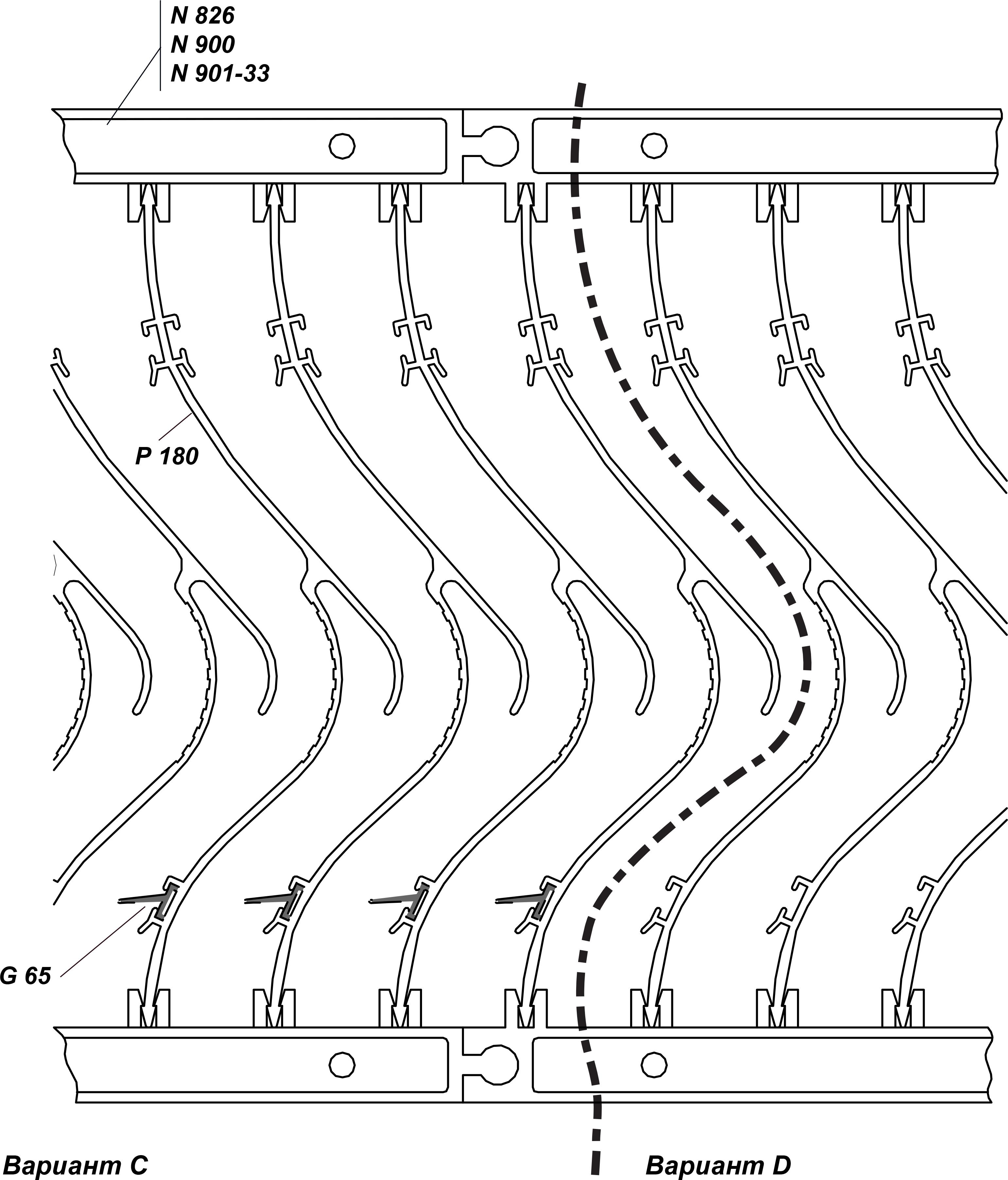 сборка кассеты из профиля p 180