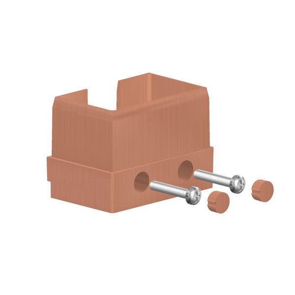 Алюминиевая торцевая заглушка для омега профиля A 50/45 JP