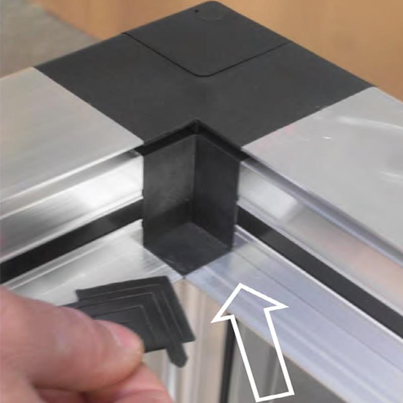 монтаж углового соединителя gs-20 на внешние ребра алюминиевого профиля