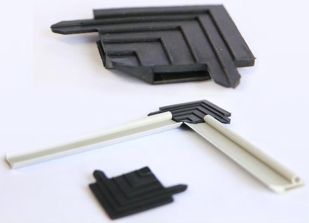 углововой соединитель для мягкого герметичного уплотнителя