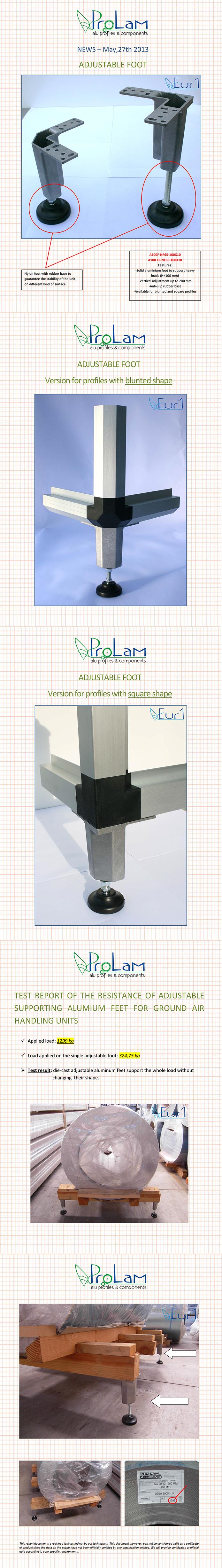 регулирующие ноги на угловых кронштейнах с прямой и усеченной гранью