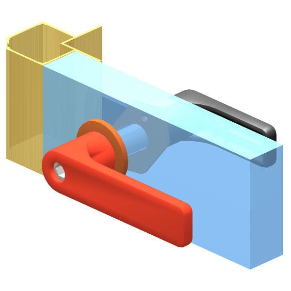 AN 70 рукоятка запорная для панелей толщиной 10 - 55 мм