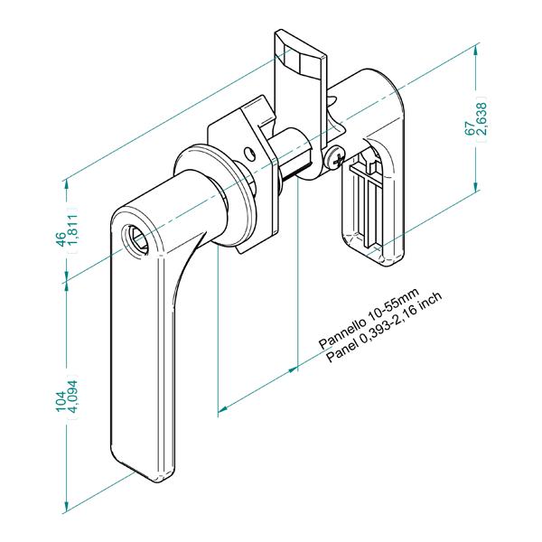 AN 70 ручка для панелей 10-55 мм