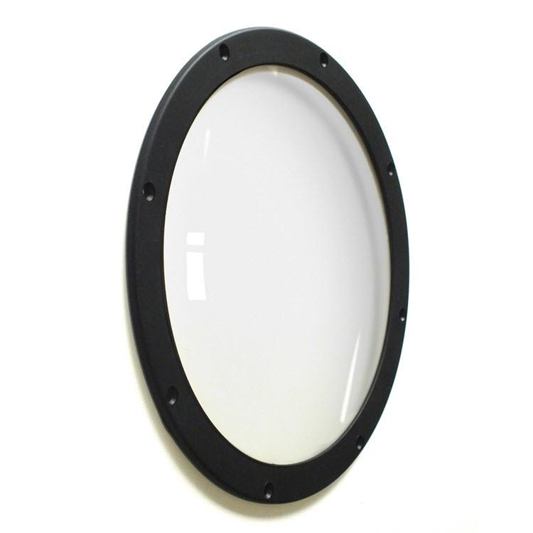 Иллюминатор плоский (накладной), круглый, с прижимным фланцем.