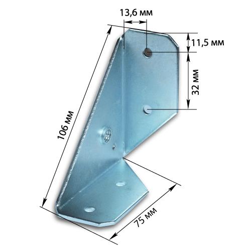 треугольный уголок металлический