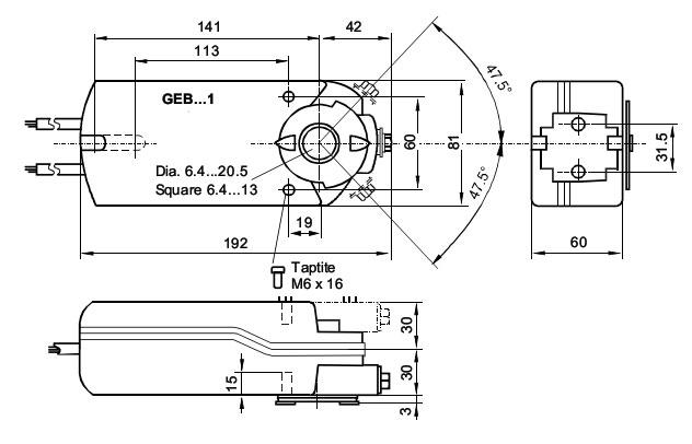 GEB 336.1E чертеж