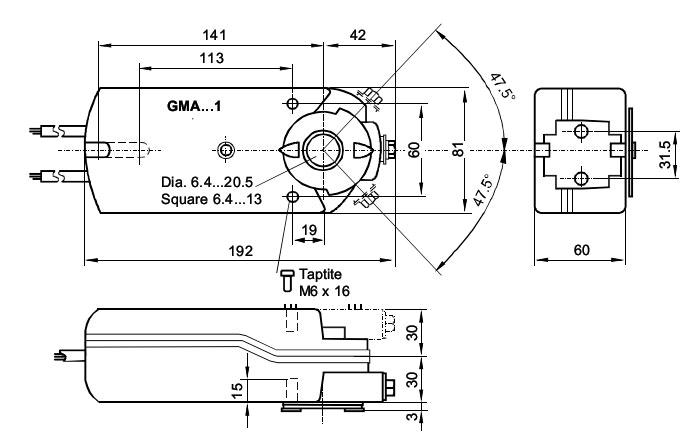 чертеж GMA 121.1E