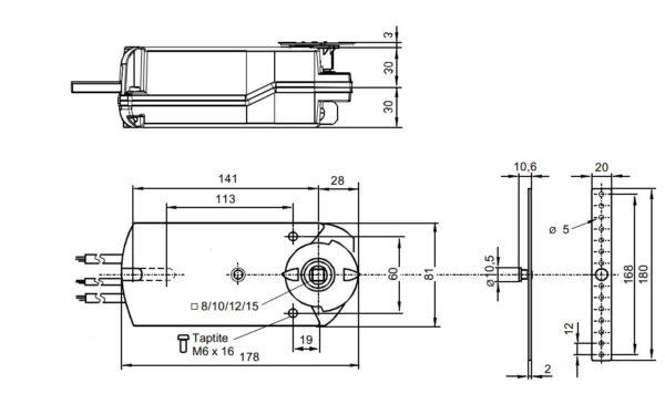 чертеж GNA 126.1E/12