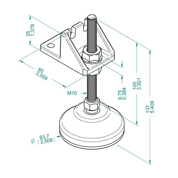чертеж ABF NF65-100