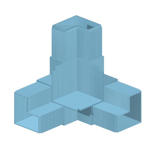 фитинг для квадратного профиля