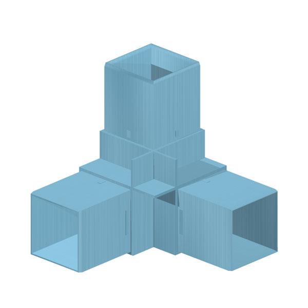 соединители для профиля с квадратным сечением