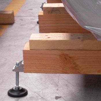 Поворотно-шарнирные опоры с круглым плоским пластиковым основанием