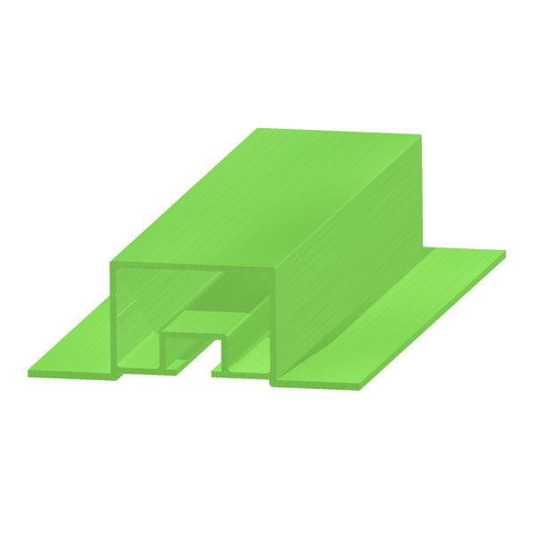 профиль алюминиевый прямоугольный с крылышками и т-образным пазом 40х27