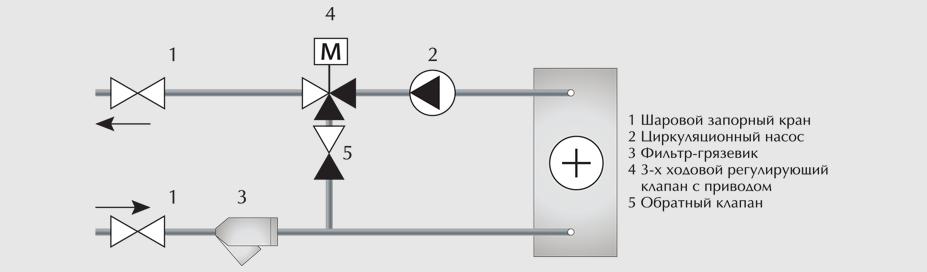узел для водонагревателей схемы